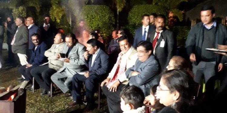 Nitin Gadkari in Kaziranga - File Photo