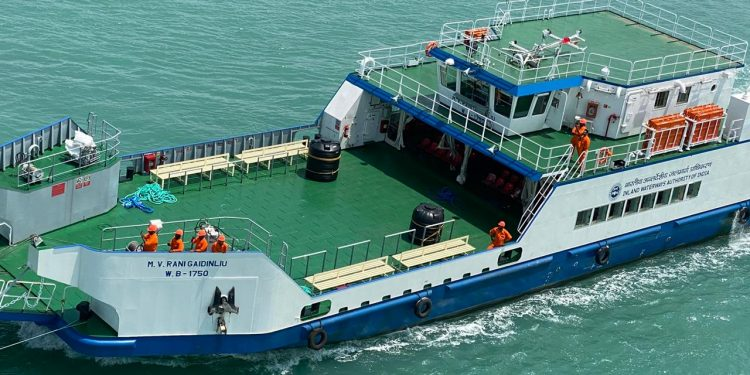 One of the four new Ro-Pax vessels enroute to Assam. Handout image