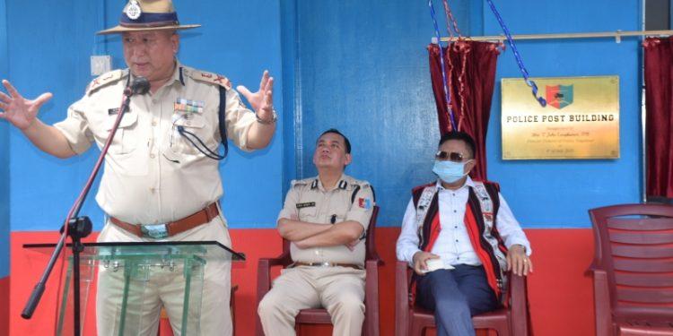 Nagaland DGP T. John Longkumer addressing a meeting. (File image)