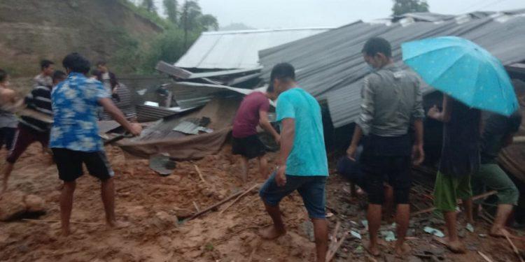 Landslide in arunachal