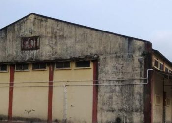 The closed FCI godown in New Guwahati