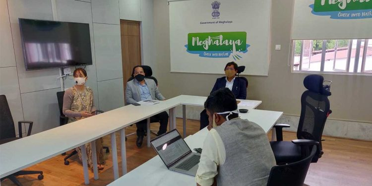 Meghalaya CM Conrad Sangma in a meeting