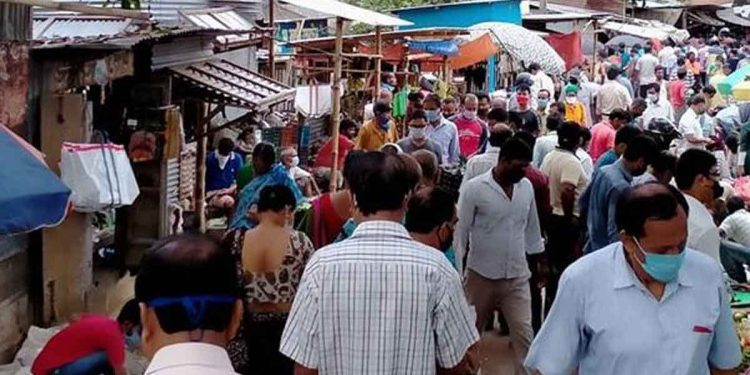 Overcrowded market areas in Agartala. Image: Northeast Now