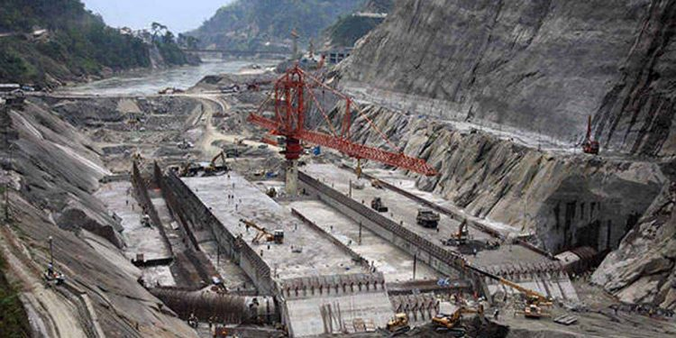 under-construction Lower Subansiri dam (File image) Image credit: Power Technology