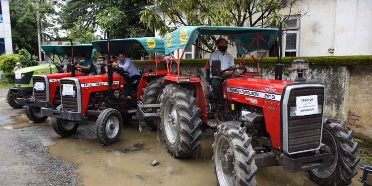 Power tiller distributed in Manipur by CM N Biren Singh