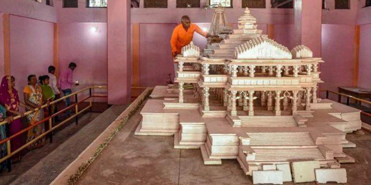 Replica of Ram Mandir. Image credit: Odisha Times