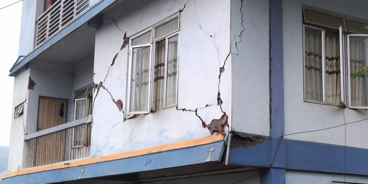 File image of damages in recent earthquakes in Mizoram. Image: Northeast Now