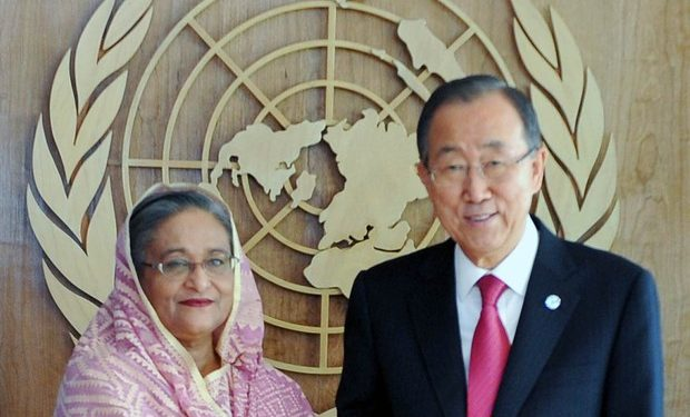 Bangladesh Prime Minister Sheikh Hasina and Chair of the Global Centre on Adaptation and ex-UN Secretary General Ban Ki-moon.