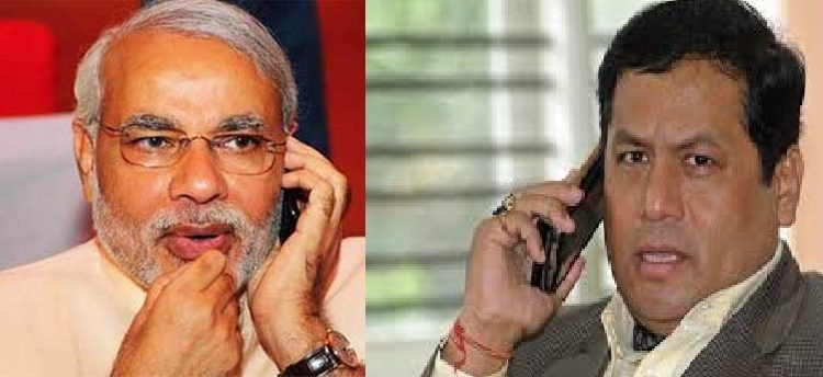 Assam CM discusses state issues with Modi over phone 1