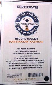 Assam school boy in International Book of World Records 3