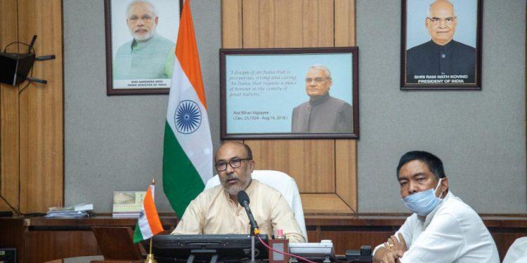 Manipur CM N Biren Singh while inaugurating the trauma centre via video conferencing