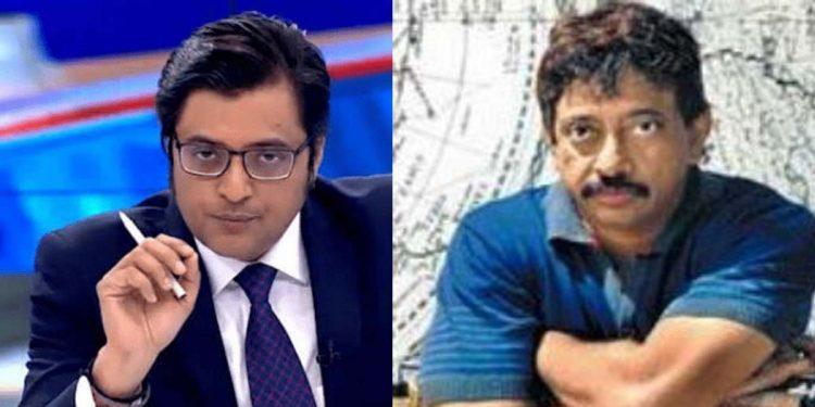 Arnab Goswami and (right Ram Gopal Varma