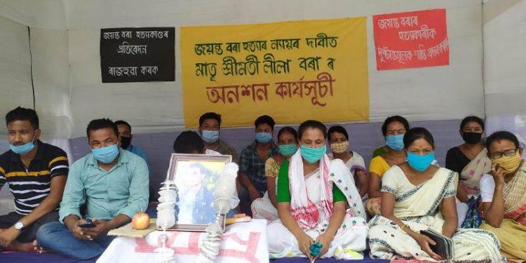 Assam: Jorhat custodial death victim's mother stages hunger strike 1