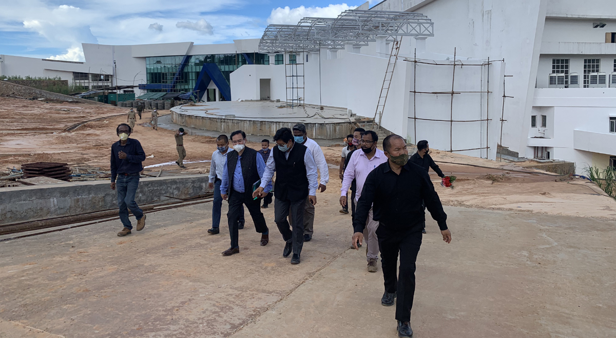 Meghalaya CM inspects construction of Shillong International Centre for Performing Arts and Culture 2