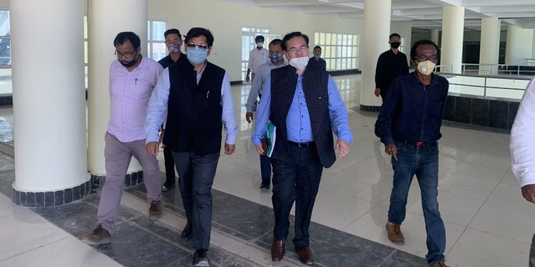 Meghalaya CM inspects construction of Shillong International Centre for Performing Arts and Culture 1