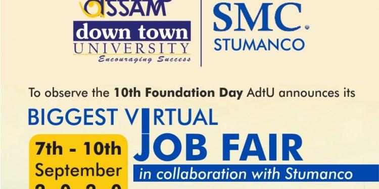 Assam down town University hosts Virtual Job Fair Week 1