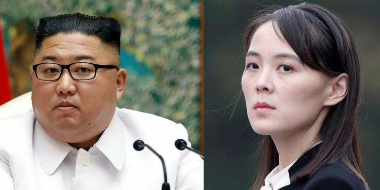 President Kim Jong-un and his sister Kim Yo Jong. Image credit – Twitter