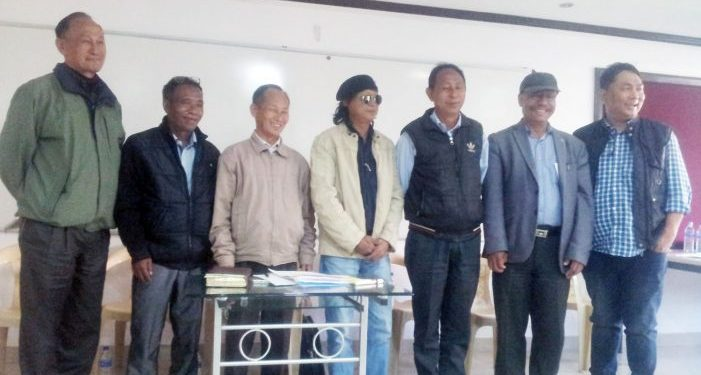 File image of leaders of Naga National Political Groups during the formation of their working committee in December, 2016.