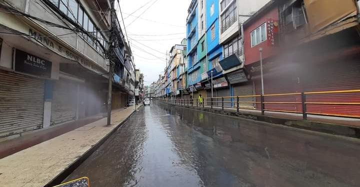 A deserted street during lockdown in Aizawl. (File image)