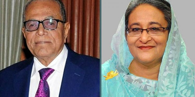 Joint-up image of Bangladesh President Md Abdul Hamid and Prime Minister Sheikh Hasina