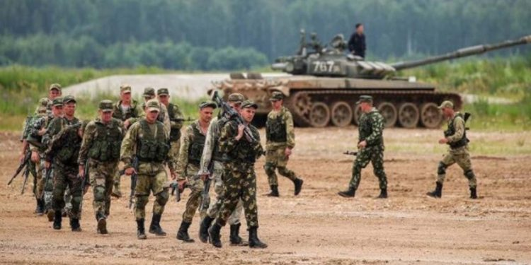 Military exercise in Russia
