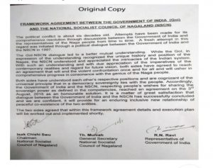 NSCN (I-M) releases original and 'manipulated' copy of Framework Agreement for public scrutiny 2