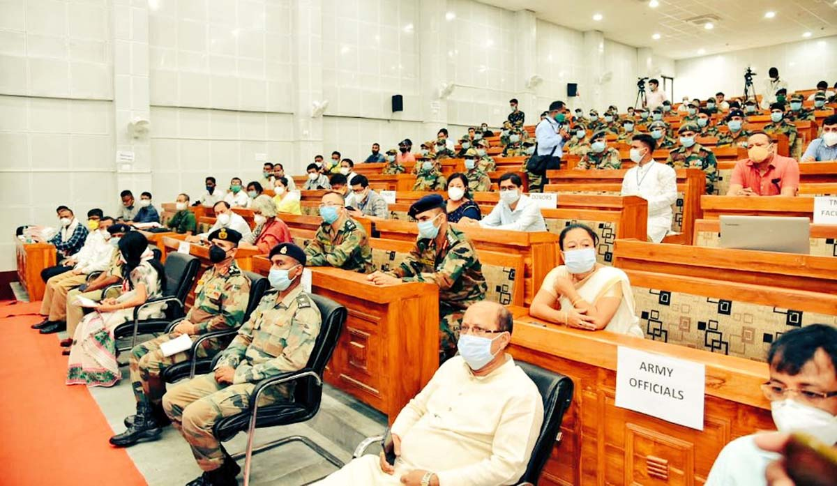 COVID19: Over 40 Army personnel donate plasma at Tezpur; Assam health minister attends event 3