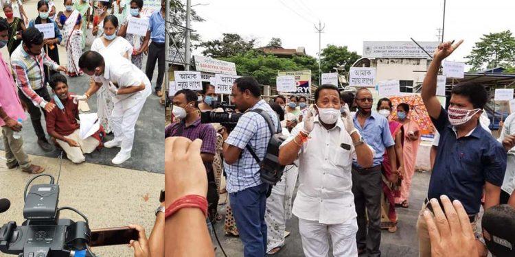 Protest in Jorhat Rana Goswami