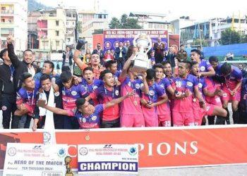 Ryntih Sports Club as champions in Sikkim