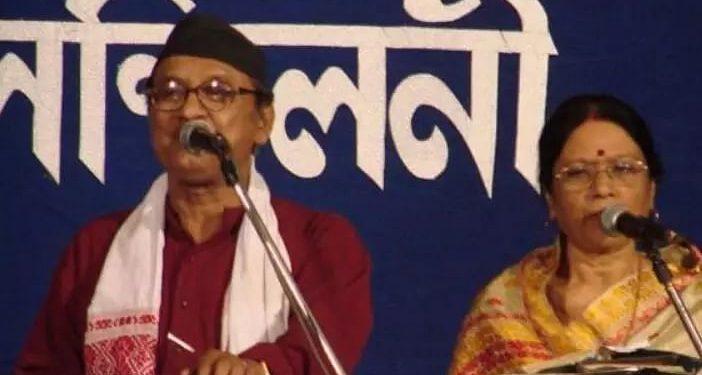 Archana Mahanta with her husband late Khagen Mahanta