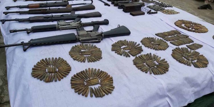 ecovered arms and ammunition