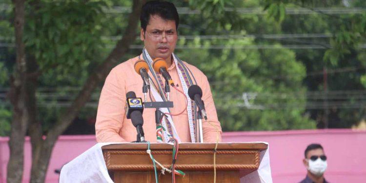 Tripura CM Biplab Deb at 74th Independence Day celebrations
