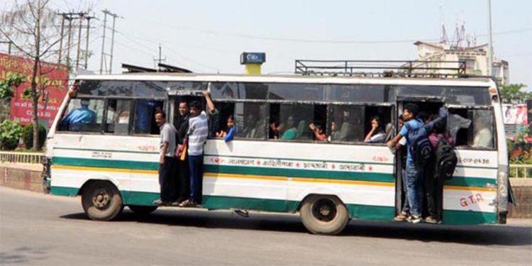 City bus in Guwahati Assam