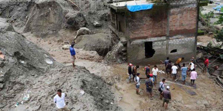 Massive landslide in Nepal