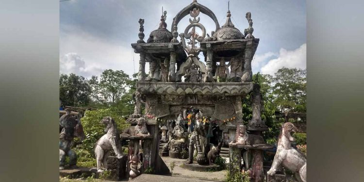 The temple in Udalguri lying in dilapidated condition. Image: Northeast Now