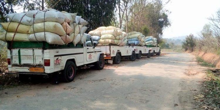 Vegetable trucks in Meghalaya