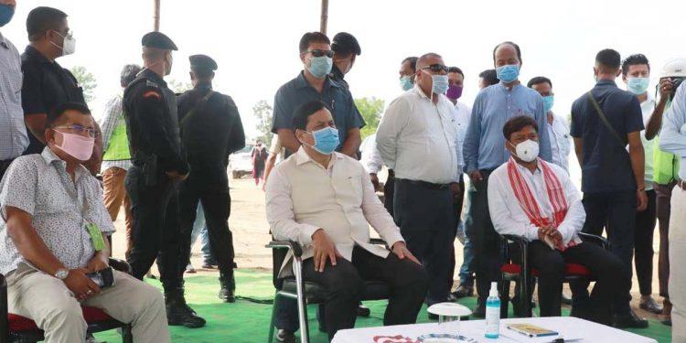 Assam CM Sarbananda Sonowal in Dibrugarh on Thursday. Image: Northeast Now