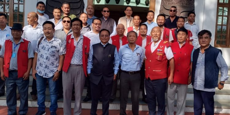 NSCN (IM) leaders with Nagaland Gaon Buras Federation officials