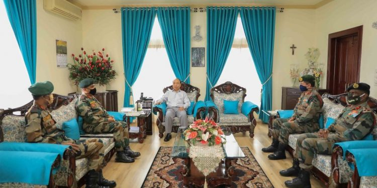 Director General Assam Rifles with Mizoram CM
