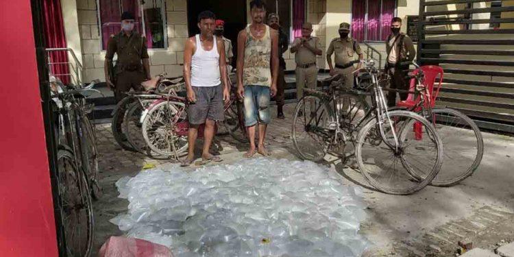 Illicit liquor seized by Dhubri police