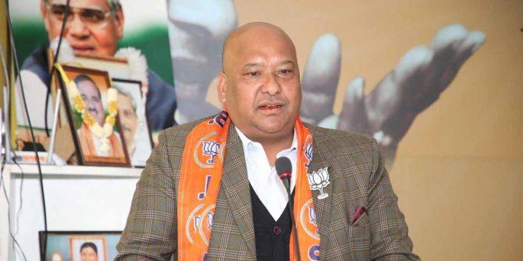 Meghalaya BJP president Ernest Mawrie