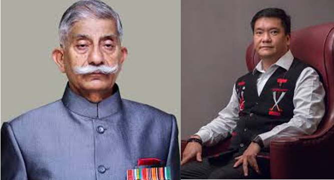 Arunachal Governor BD Mishra and CM Pema Khandu