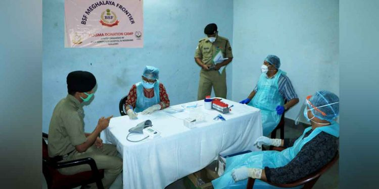 Plasma donation camp organised for BSF personnel in Meghalaya