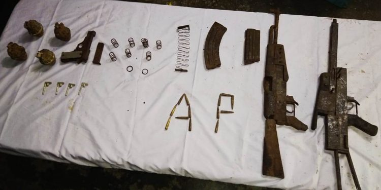 Assam: Arms and ammunition recovered in Kokrajhar 1