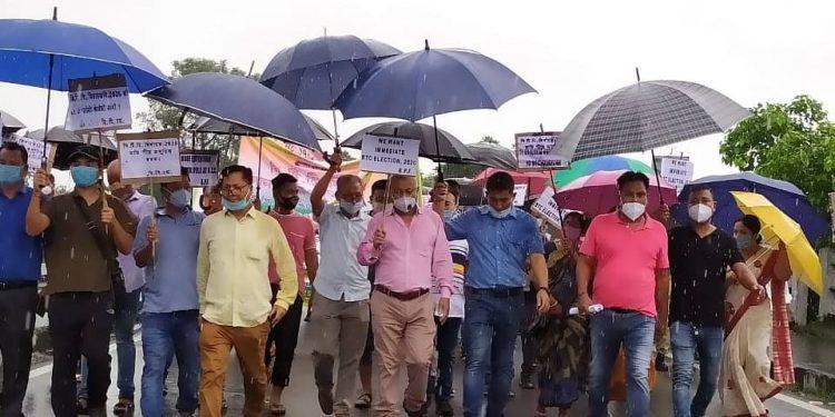 BPF-BJP tussle turn ugly, party leaders hit streets against Assam govt 1