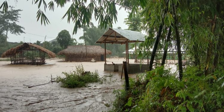 Incessant rains for more than a week has left trails of devastation in the West and East Siang districts as well.