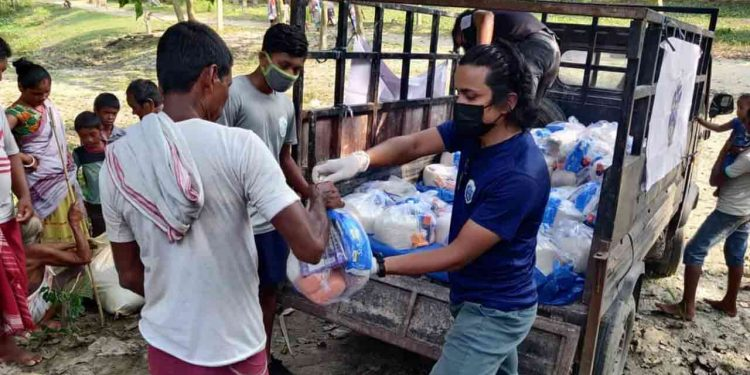Guwahati City FC organizes flood relief camp in Morigaon 1