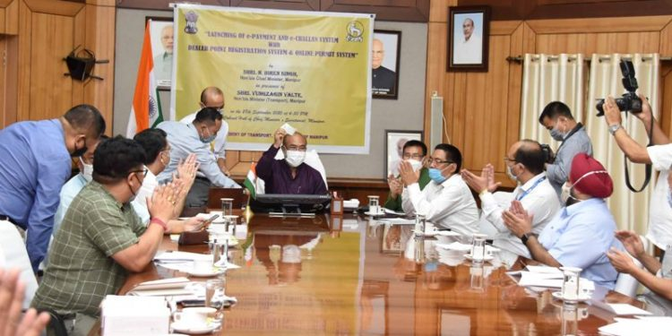 Manipur chief minister N Biren Singh on Monday launched the e-Challan and e-Payment System of Transport department in Imphal.