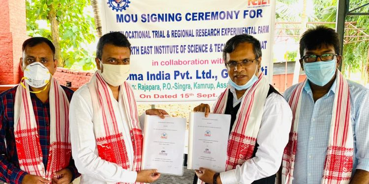 A memorandum of understanding (MoU) has been signed between NEIST and Aroma India Private Limited, Guwahati.