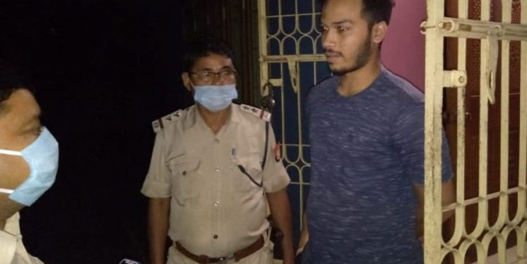Nalabari police on Monday night arrested SI recruitment examination candidate Gunjan Talukdar from Rampur.
